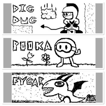 Dig-Dug characters by PuttyBaron