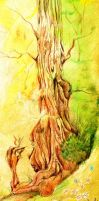 Ent and Butterfly by JoannaBromley