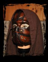Duo Patchwork Leather Mask 2 by Lagueuse