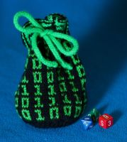 Binary dice bag by foxymitts