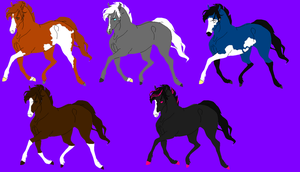 Horse designs by SnoHeartsMay