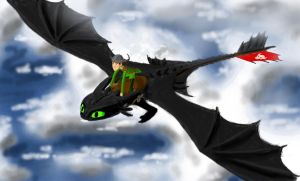 Hiccup and Toothless by Taipu556