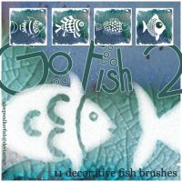 Go Fish2 - fish brush set 2 by sleepwalkerfish