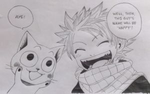 happy and natsu by ssnzhd