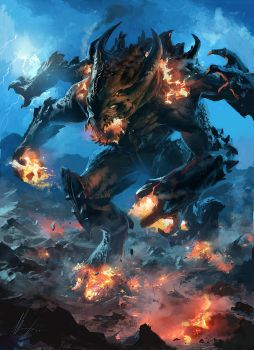 fire lava Colossus by neisbeis