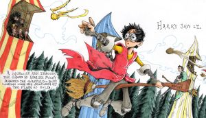 Harry Potter Quidditch Match by BlackArachnid