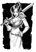 Warrior chick by OFFO