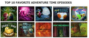 My Top 10 Favorite Adventure Time Episodes by rabbidlover01