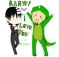 "KidXKimi - ""Rawr"" I Love you by SakuraIsDeidarasGirl"