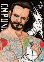 CM PUNK sketch card by The-Standard