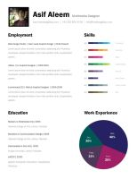 One Page Resume Template by freebiesgallery