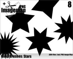 Star Brushes - Gimp by ML-Worlds