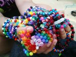 A whole lotta bracelets by Skysofdreams