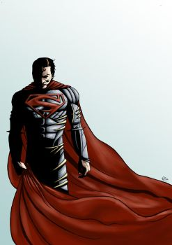 Tim Burtons  Superman by manuelgarcia