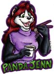 Panda Jenn Badge by hollyann