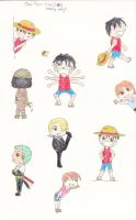 one piece chibi sketches by obsessedwithYJ