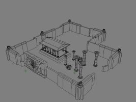 W.I.P dojo or maybe a temple? by noobstar