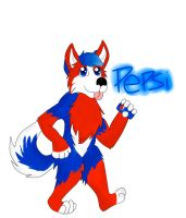 Pepsi the furry :D by blizyrockets