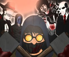 CreepyPasta Characters in color by SicSlipknotMaggot