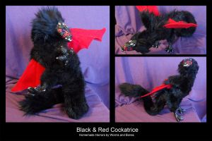 Black and Red Cockatrice by WormsandBones