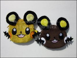 Zipper Pouches: Dedenne and Shiny Dedenne by Serenity-Sama