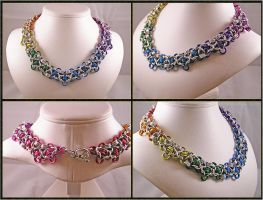 Rainbow Necklace by chainedoombaby