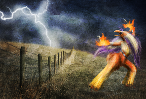 Training in the Storm by AlinQuilz