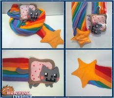 Nyan Cat Scarf by RawringCrafts