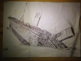 Titanic the break up by Admiral-Kevin