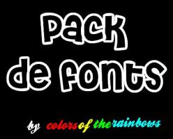 Fonts' by colorsoftherainbows