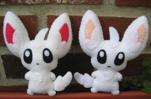 Minccino plush times two by P-isfor-Plushes