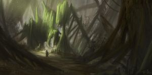 Forest shapes by FrejAgelii