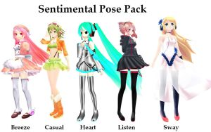Sentimental Pose Pack Download by Neverlia