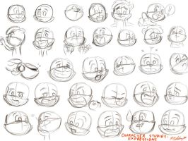 Character Studies: Expressions by CyberPikachu