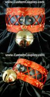 Red corset bell collar by The-Cute-Storm