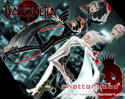 Bayonetta and Jeanne MMD by chatterHEAD