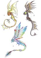 Winged-heads adoptables - 2 by Drakeshya