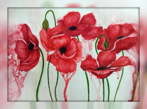 weeping poppies (2014) by Indigoletta