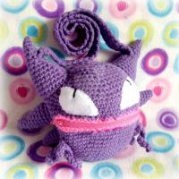 Crochet Haunter Purse by MadameWario