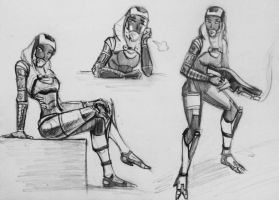 sketches Tali (118) by spaceMAXmarine
