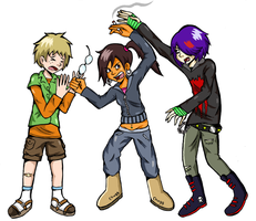 Geek, Emo and Chav 2 by indecisivepancake