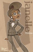 Miss Janelle Monae by AronDraws