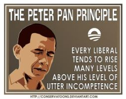 Peter Principle for Liberals by Conservatoons