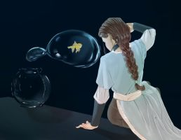 katara and the goldfish by nopino1