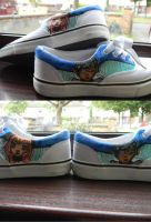 Hand painted Original character shoes by Naunaa