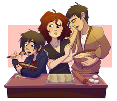 Big Hero Six: A Baking Trio by red899