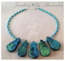 Jewel Enamel Teardrop Necklace by WhiteMagicPriestess