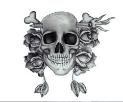 Skull and Roses by Hausofch