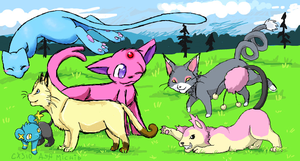 Cat Pokemon Collab by BakaMichi
