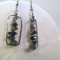 Labradorite Chip Earrings by bugsandbears